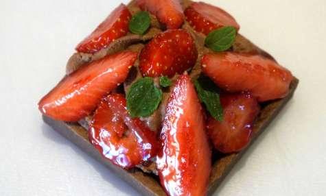 Tartelettes chocolat fraises, chocolat praliné.... réservés aux gourmands
