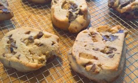 Shortbreads beurre de cacahuètes et chocolat