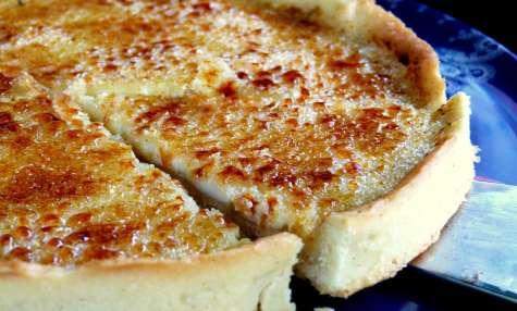 Tarte façon crème brûlée vanille et tonka