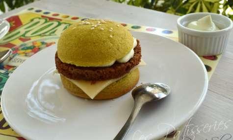 Hamburger en génoise à la crème sweet-pumpkin coco