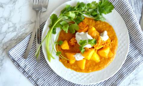 Curry de mangue et tofu
