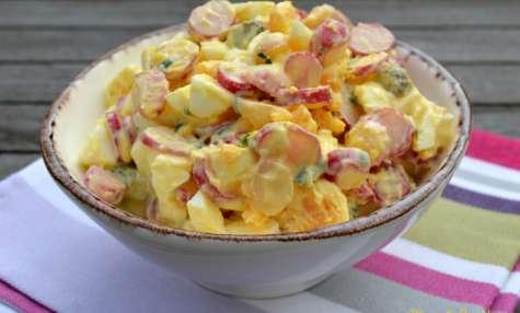 Salade d'œufs durs et radis roses