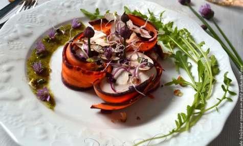 Salade fraîcheur comme un petit jardin en fleur