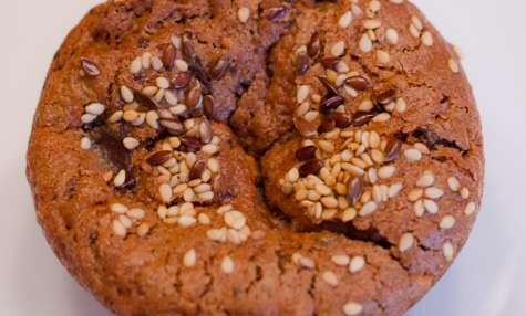 Muffins au chocolat et aux deux graines