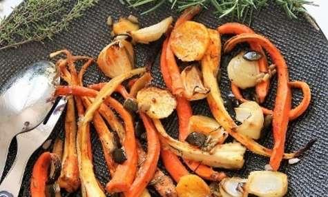 Légumes rôtis au miel
