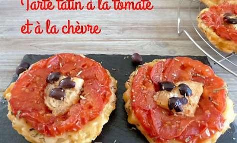 Tarte tatin aux tomates et à la chèvre