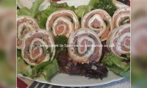 Wrap fraîcheur de saumon fumé et boursin aux noix recette facile
