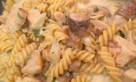 one pot pasta poulet rôti cèpes