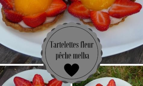 Tartelettes en fleur pêche melba
