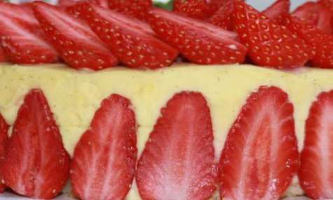 Fraisier - crème mousseline vanille