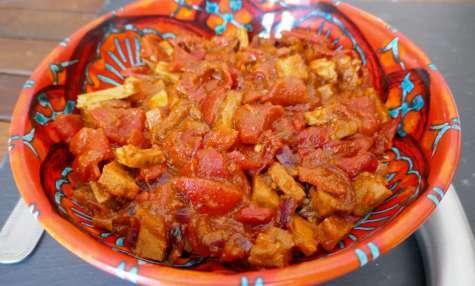 Sauté de veau aux poivrons et tomates