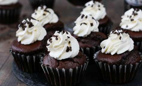 Cupcakes au chocolat et à la bière