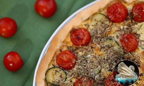 Tarte poulet courgette tomates