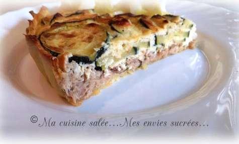 Tarte au thon - ricotta - courgettes