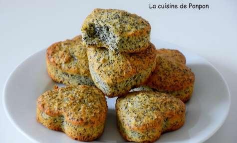 Muffin aux amandes et pavot