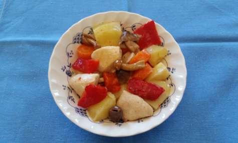 Salade de poulet aux saveurs italiennes
