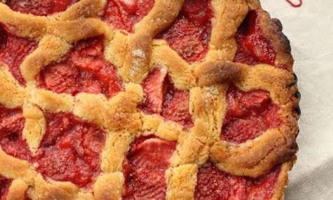 Tarte finlandaise aux fraises cuites