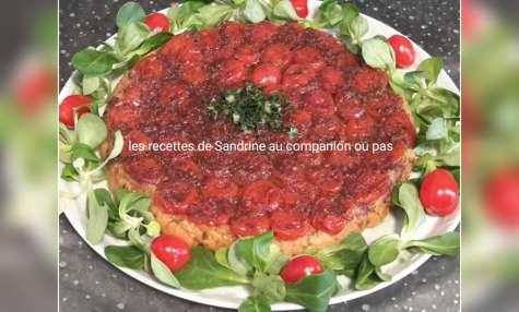 Tarte tatin de tomates cerises au balsamique et parmesan