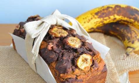 Banana bread marbré au chocolat noir