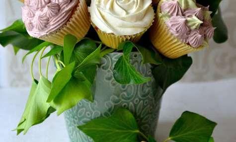 Bouquet de cupcakes ganache montée chocolat blanc