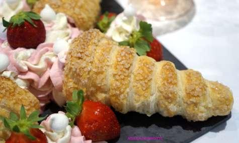 Cornets Gourmands Fraises et Vanille