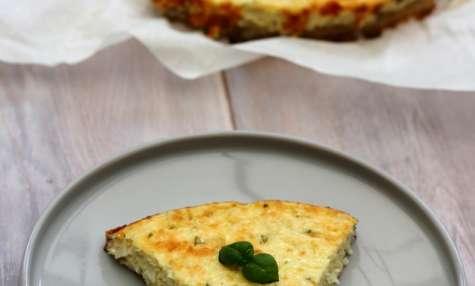 Cheesecake au chou-fleur au fromage blanc et parmesan