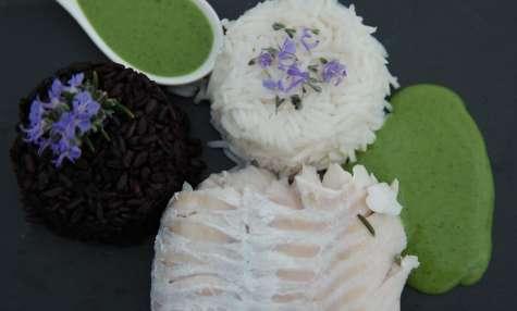 Sauce coco et matcha pour accompagner le poisson, sans lactose