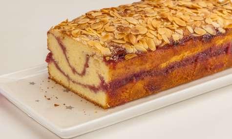 Gâteau du matin vanille framboises amandes