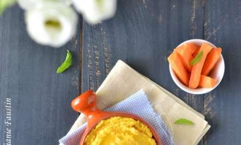Tartinade de haricots blancs et carottes