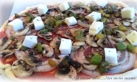 Pizza ventrèche roulée - champignons
