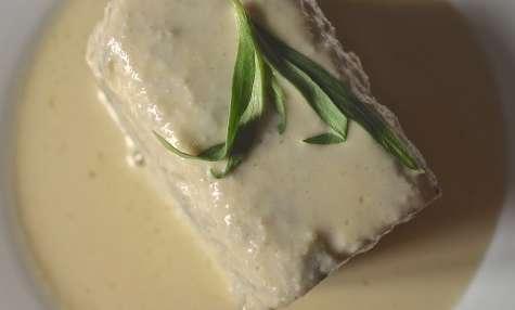 Terrine de champignons de Paris, beurre blanc à l'estragon