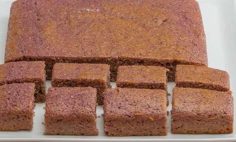 Gâteau de polenta au cassis