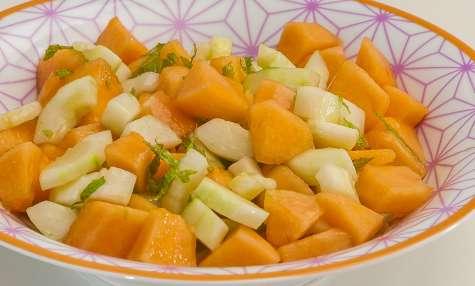 Salade de concombre et melon