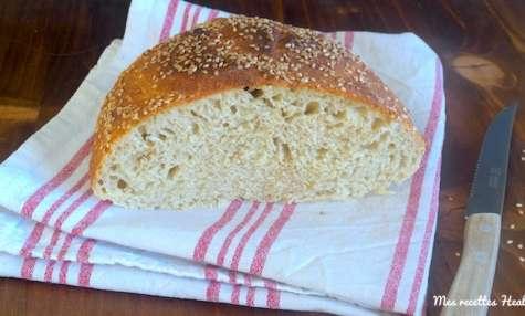 Pain rapide sans pétrissage au blé et kamut