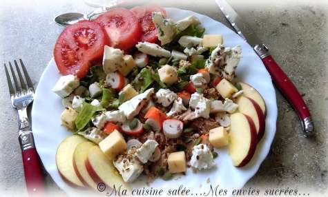 Salade thon-surimi et 3 fromages