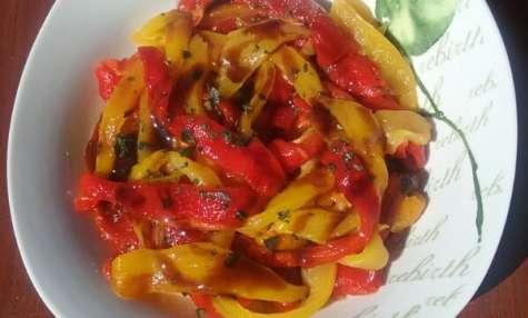 Salade de poivrons marinés