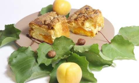 Tendre gâteau aux abricots et aux noisettes