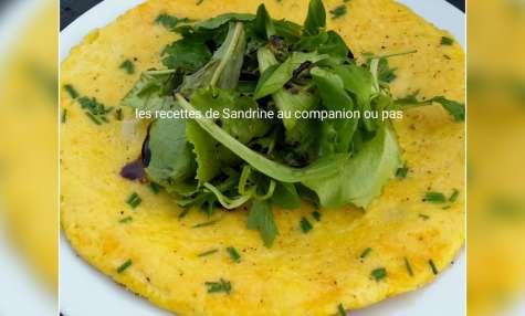 Omelette fine des soirs de flemme au parmesan et ciboulette