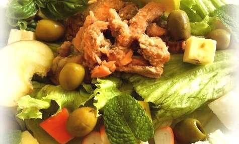Salade au filet de truite