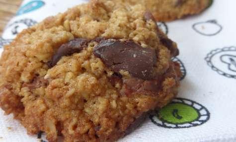Cookies au pépites de chocolat, flocons d'avoine et huile de coco