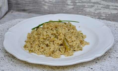 Quinoa aux cebettes