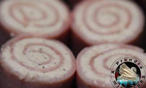 Roulés de jambon au poivre noir