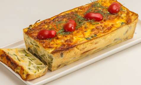 Terrine de courgettes au fromage et à la menthe