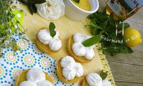 Tarte au citron meringuée et sirop de menthe