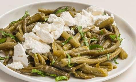 Salade de haricots verts à la ricotta