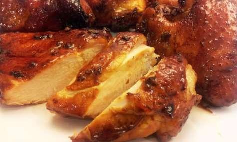 """Poulet sauce BBQ à la chinoise: moelleux à cœur et peau """"crispy"""""""