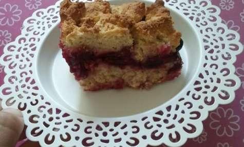Gâteau polonais à la cannelle et aux prunes