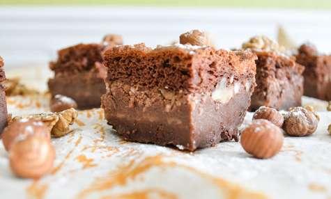 Brownie magique chocolat et noisettes