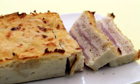 Croque cake jambon - fromage version light