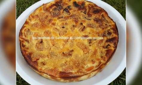 Gâteau fondant aux abricots et à la poudre d'amande